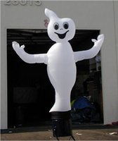 Wholesale happy Halloween scary Halloween decoration mH white inflatable ghost can add colorful lighting