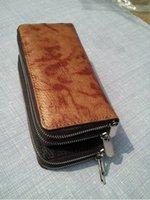 Wholesale European Phone - European Oil Wax Cowhide Leather Wallets Women Clutch Vintage Long Card Holder Phone Wallet Female Woman Wallet Leather Free Shipping