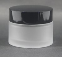 Wholesale Glass Skin Care Container - 50ml frost cream jars,frosted glass jars, skin care cream bottles, cosmetic containers 100pcs