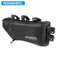 Wholesale Volume Bikes - ROSWHEEL Bicycle Bag Water Bike Frame Corner Tube Triangle Pouch Bycicle Cycling Bags Accessories 4L Volume Extendable 121271