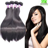 Wholesale tangle free hair weave - 8a Brazilian Mink Hair Extensions Virgin Brazilian Straight Hair Weave 4pcs Real Brazilian Human Hair Bundle No Shed No Tangle Free Shipping