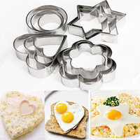 Wholesale Christmas Stainless Steel Mold - 12Pcs Stainless Steel Biscuit Cookie Cake Egg Pastry Fondant Mold Mould Cutter E00350 OST