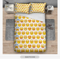 BeddingOutlet Emoji Bedding Set Cute e Fashion Duvet Cover for kids Printed Bedlinen 3Pcs Twin Full Queen King Bedspreads TOP1996