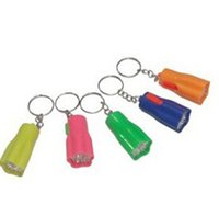 Wholesale Plastic Flower Rings - Plum 1 LED Mini Keychain super bright flashlight Torch Flower Shape Key Chain Ring Mixed Colors