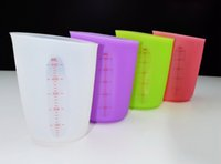 Wholesale Measuring Tools For Baking - Dry Measuring Cups Kitchen Tools Colorful eco-silicone cup big capacity 500ml for Liquid Ingredients for Kitchen Cooking Baking wholesale