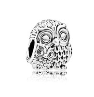 Wholesale Pandora Baby Charms - Fit Pandora Charm Bracelet Charming Night Owl Baby Mom European Silver Bead Charms Beads DIY Snake Chain For Women Bangle & Necklace Jewelry