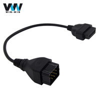 cables obd2 obd 2018 - Wholesale- 12 pin to OBD2 female Connector Adapter OBD Diagnostic Adapter Cable for