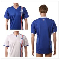 Wholesale Cheap Soccer Shirts Wholesale - NEW Iceland jersey Euro 2016 Home Away Iceland white blue soccer Jerseys Cheap Top Thai Quality Men Football Shirts Soccer Jersey 2016-2017