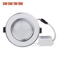 Wholesale Dimmable Led Downlight Housing - Wholesale-Ultra thin Dimmable LED Downlight Blubs 3W 5W 7W 9W 12W Cool White   Warm White LED Down Spot Lamp With White Aluminum Housing
