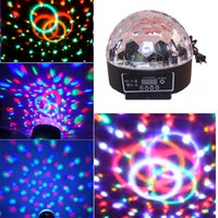 Commercio all'ingrosso- RGB LED Crystal Magic Ball Stage Effect Light Digital Festival Festa di Natale Disco Bar Club DJ KTV Decorazione Lampada