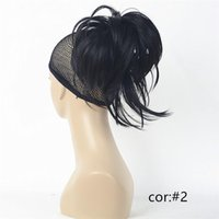 Wholesale Blonde Claw Hair Extensions - 12 Inch Adjustable Messy Style Ponytail Hair Extension Synthetic Hair-Piece with Jaw Claw COLOUR CHOICES