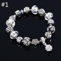 Wholesale Sterling Silver Bead Strands - new fashion jewelry Wholesale Fashion Jewelry 925 Sterling Silver charm Bracelets & Bangles for women European Beads bracelet