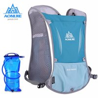 Atacado- AONIJIE Mulheres Men Mochila leve para corrida Outdoor Sports Trail Racing Marathon Hiking Fitness Bag Hydration Vest Pack