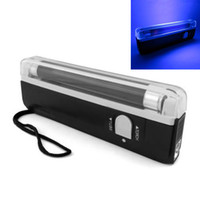 Wholesale Dj Uv Lights - Handheld UV Black Light Torch Lamp Blacklight led Party Stage light Dj Pet Money Verify,free shipping LEG_70J