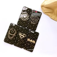 Compra Oro Superman-Cassa del telefono per iPhone 8 8p 7p 7 6 6s Superman Copertina Super Hero Cover Glitter Gold per iPhone 7 7 Plus Capa