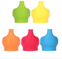 Wholesale Making Drinks - Lids Silicone Sippy Lids for Baby BPA Free Silicone Stretch Drinking Converts Sippy Bottle Makes Drinks Spillproof Lids DHL Free Shipping