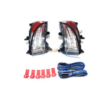 Wholesale nissan mirrors - LED rear-view mirror lights; LED yellow turn signal light, white DRL, ground lamp case for Nissan Elgrand E52 2012~ON Japan version