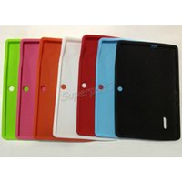 Wholesale Flexible Silicon Ships - Flexible Silicone Cover Case For 7 Inch Q88 Tablet PC Thin Anti-dust Rubber Gel Tablet Case Free Shipping