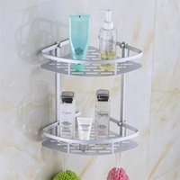 Wholesale Soap Storage - Space Aluminum Bathroom Holder Soap Cosmetic Storage Organizer Rack For Home Bath Accessories 26 5yj C R
