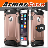 Wholesale Rubber Case Iphone Gold - For Samsung Galaxy S8 Case iPhone 7 7 Plus cover Armor Hybrid Superior Hard PC And Pliable Rubber Drop Resistance Defend Cases cover For LG