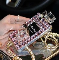Wholesale Case For Iphone4 Luxury - Luxury Diamond Bling Perfume Bottle cell phone Case for iphone 6, iphone 6 plus, iphone 5 5s, iphone4 4s, Samsung note4, note3, pink color
