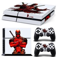 Etiqueta de vinilo Deadpool Design para PlayStation 4 Skin Stickers Set para consola PS4 + Controladores