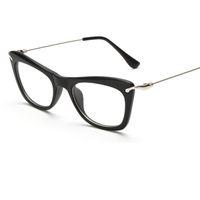 Wholesale Wholesale Mirrors Plain - 2017 Brand Eyeglasses Frame Men  Women Vintage Big Frame Flat Glasses And Myopia Eyeglasses Optical Frame Plain Mirror UV400 L15