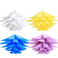 lampes à puce achat en gros de-10sets / lot le plus bas prix en vente DIY moderne pinecone pendentif lumière créative lys lotus roman led e27 iq puzzle lampe blanc