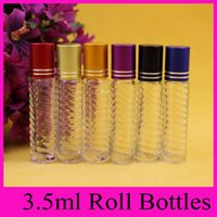 Wholesale Small Perfume Roll - 3.5ml glass bottle glass beads ball on bead dispensing bottle bottle small roll on bottles for essential oils perfume bottles hot sales