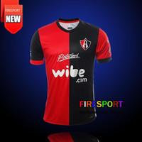 Wholesale Atlas Homes - 2017 Mexico Club Atlas Camiseta de futebol Home Red Black Away White Soccer Jerseys Thailand Quality 17 18 Football Shirts Big Size XXL