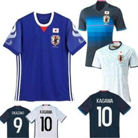 Wholesale Flash Japanese - 2017 World Cup Japan Soccer Jerseys Home Blue away white maillot foot 2017 2018 OKAZAKI KAGAWA HASEBE Japanese best quality Football Shirt