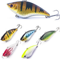 Wholesale Sinking Lures - 7cm 16g Hard Fishing Lure VIB Rattlin Hook Fishing Sinking Vibra Rattlin Hooktion Lures Crank Baits