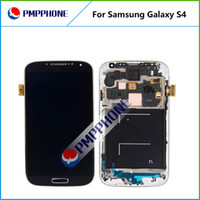 ingrosso telaio dello schermo i545-Per Samsung Galaxy S4 i9500 9505 I545 I337 Bianco e blu Touch Screen Digitizer LCD + Frame Sostituzione con Fast DHL nave