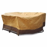 oval patio table - 60 quot Waterproof Oval Rect Outdoor Patio table Cover Furniture Protection Chairs W51766