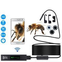 Wholesale Snake Led Lights - Mini Camera Borescope Snake Video Cam Wifi Endoscop Builtin 8 LED Light Inspection for Android IOS Phone PC Laptop