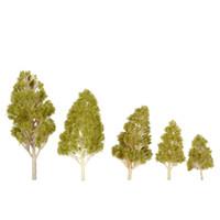 Wholesale miniature garden tools for sale - Trees Model Set Plastic Architectural Model Railroad Layout Garden Landscape Scenery Diorama Miniatures Trees Model