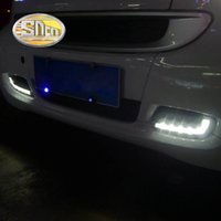 Wholesale Daytime Mercedes - SNCN Super Brightness Waterproof ABS Cover Car Accessories LED Daytime Running Light DRL For Mercedes Smart Fortwo 2008 - 2011