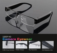Wholesale Glass Hd Cam - Full HD 1920x1080P Mini Glasses Camera Security DVR Video Audio Recorder Eyewear Cam Mini Sunglasses Camera Portable Surveillance Camcorder