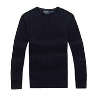 gelbe pullover großhandel-2017 gute qualität Marke Männer pullover pullover kleidung Herbst Winter Saison sweatershirts in rot, gelb, orange, schwarz etc farbe