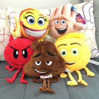 Wholesale Big Plush Animal Toys - 2017 new The Emoji Movie Plush Toys Soft Dolls Stuffed Animals Toys for Kids Poo Devil Children Xmas Gifts Kids Stuffed Toys C2284
