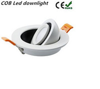 Wholesale 7w cob led driver - COB led Recessed downlight LED spotlight 3W 5W 7W 15W AC85-265V led ceiling lamp with isolate constant driver