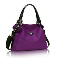 Wholesale New fashion women purple cross body canvas bag European and American Style lady single shoulder bags handbags