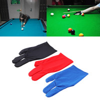 1 par Durable Nylon 3 Fingers Luva para Billiard Pool Snooker Cue Shooter Black Hot Selling