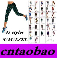 Wholesale Workout Capris - Hot Brand New Capris Outdoor Women Sports Leggings Workout High Waist Floral Printing Fitness Casual Gym Running Wear Super Soft