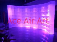 Wholesale new style entire full grow beautiful portable inflatable photo wall with free air blower