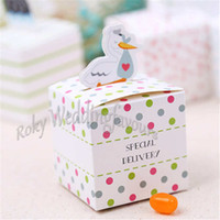Wholesale duck candies resale online - Lovely Duck Favor Boxes Baby Shower Party Supplies Birthday Party Candy Box Decor Party Setting