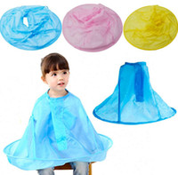 Wholesale Hairdresser Aprons Wholesale - Child Kids Hairdresser Hair Cutting Cape Haircut Apron Cloak Kid Salon Hairdressing Hair Cutting Barber Cape Bib KKA2420