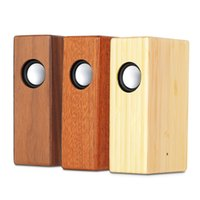Wholesale Wooden Pc Speakers - Natural Wooden Induction Speaker Stereo NFC Speaker USB charging Audio Speaker For Mobile Phone Tablet PC