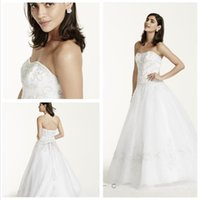 Wholesale Intricate Beading - 2016 Tulle Ball Gown Wedding Dresses Sweetheart neckline with intricate beaded metallic embroidery bodice and tiered skirts 7WG9927 gowns