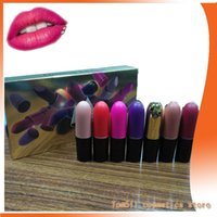 Wholesale Smallest Make Ups - mbc Lipstick European and American foreign trade make up charisma bullet 5 color lipstick suit small pepper do not stick cup lipstick